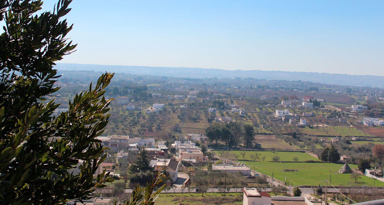 vista panoramica di uno scorcio della Valle d'Itria