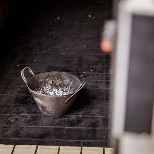 secchio per l'affumicatura con legno di Fragno