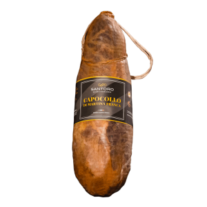 Whole Santoro Capocollo di Martina Franca with front positioned label