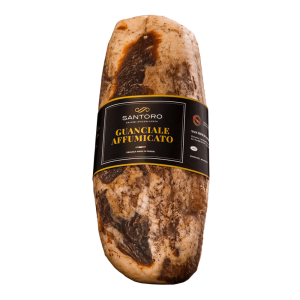 Whole Santoro Smoke Jowl with front positioned label