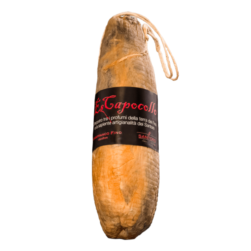 Whole Santoro Es capocollo with front positioned label